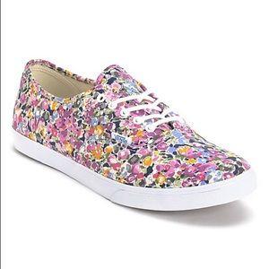 Vans Lo Pro Violet & White Floral Print Shoes 💐