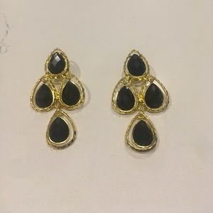 Amrita Singh black earrings
