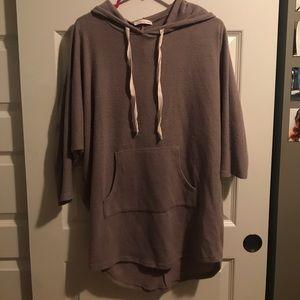 Oversized tan hoodie
