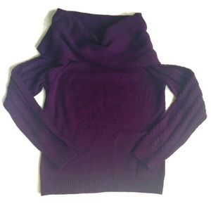 EUC Deep Purple Cowl Neck Sweater in Ladies' Small