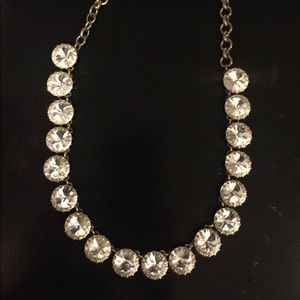 J.Crew Brass Plated Crystal Necklace