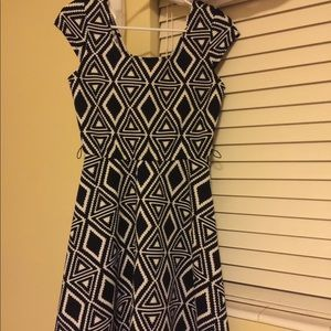 Black and white dress by IN of San Francisco.