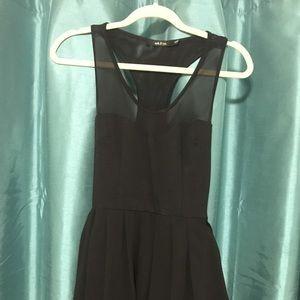 Black Racerback Elegant sheer Flowy Dress