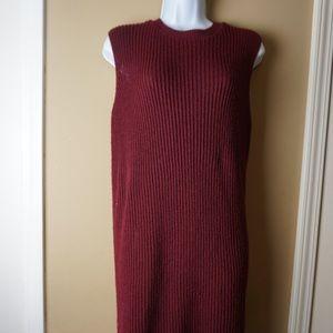 Forever 21 sweater dress so small Burgundy