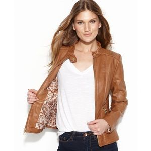 Guess Vegan Leather Moto Jacket
