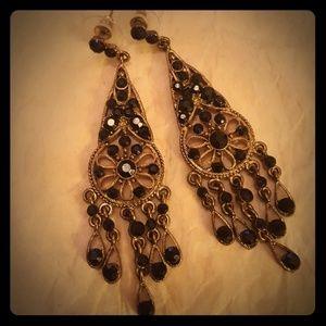 Black 🖤 & Gold earrings