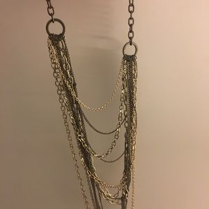 Chunky long layered necklace