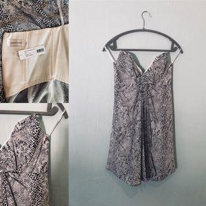 ZIMMERMAN✨ Snake print strapless dress.  NWT