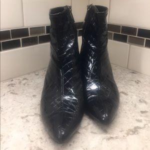 Bandolino patent leather booties