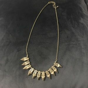 Gold Spike Detail Necklace