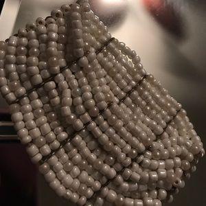 Beautiful nice beaded white bracelet