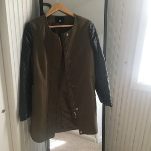 H&M Leather/Trench Coat