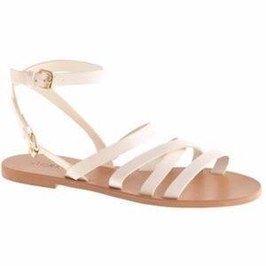 J.Crew Ankle Wrap Leather Sandal