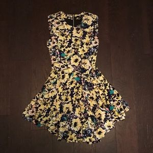 H&M Bright Floral Flare Dress