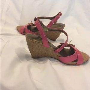 Naturalizer Women's Pink Wedges 8.5 Sandals Patent