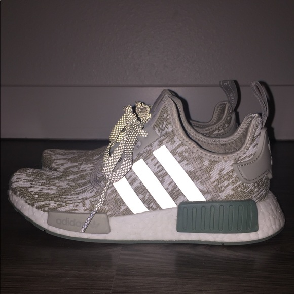 super popular 06957 c623e adidas Shoes - Adidas Originals NMD R1 Sesame Trace Green White
