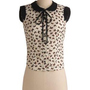 ModCloth Peter pan collar bow blouse