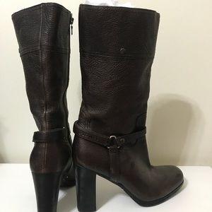 Prada Mid-Calf Dark Brown Boot