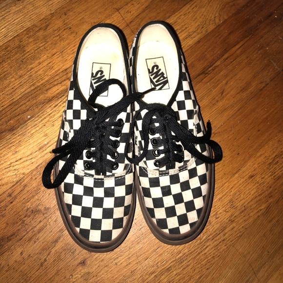 Checkered Vans With Gum Sole | Poshmark