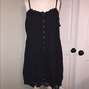 3X Forever XXI black spaghetti strap dress