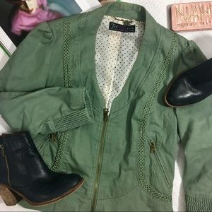 Zara Trf Military Chic Jacket