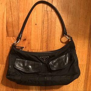 Prada Black Fabric & Leather Handbag 👜 🖤🌹