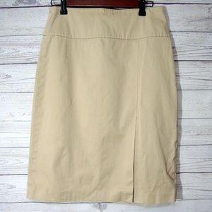 Banana Republic Khaki Skirt Size 6 Cotton Stretch