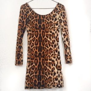 Leopard Print Bodycon Mini Dress