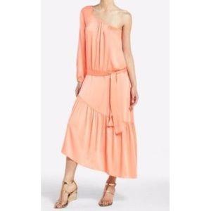 "BCBG ""Kelli"" tangelo orange one shoulder dress"
