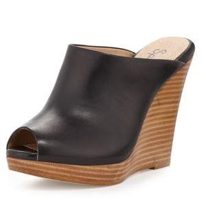 Splendid 9M Black Brooklyn Leather Slide Mules
