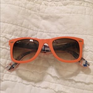 Orange RayBan Sunglasses