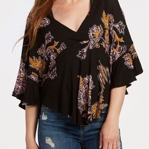 Free People Maui Wowie Blouse in Black Sz Small