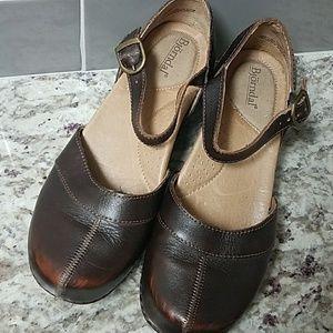 Bjorndal Clogs STELLA Brown Leather