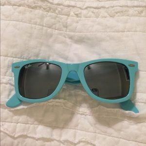 Turquoise Ray-ban sunglasses