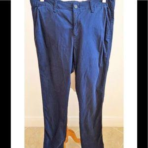 GAP Cotton Navy Casual Slim Leg Pants