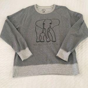 J. Crew Wildlife Trust Elephant Sweatshirt, M