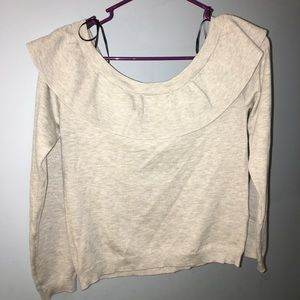 Forever 21 gray off the shoulder sweater