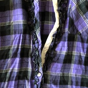 Vera Wang Tops - Simply Vera by Vera Wang Plaid Shirt