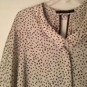Zara Basics Slouchy Flowy 3/4 Sleeve Blouse Sz M