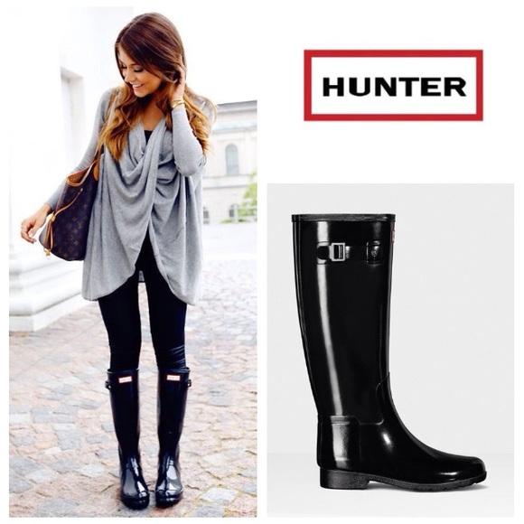 8a01d472648 LIKE NEW! HUNTER Original Refined rain boot black
