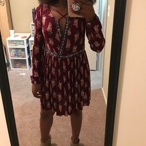 Floral cross Chest Dress