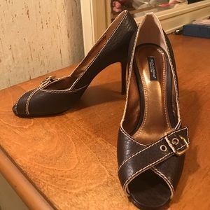 Authentic Dolce and Gabbana peep toe pumps