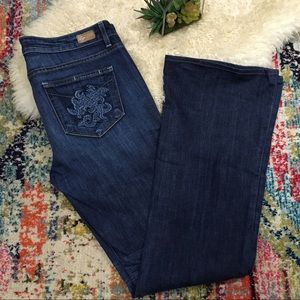 Paige Hollywood Hills size 31 boot cut embroidered