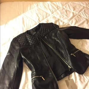 Brand New with tags Zara Faux Leather Jacket