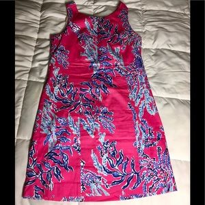 Lilly Pulitzer Shift Pink/Blue/White Like New