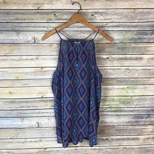 Old Navy Blue Diamond Print Tank