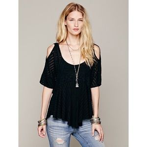 {Free People} Dreamy Date Cold Shoulder Top