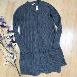 NWT!  Abercrombie & Fitch gray sweater duster, S.