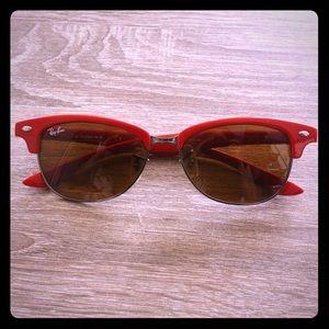 Ray-Ban club master red sunglasses