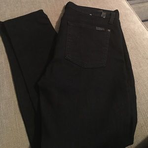 7 for all mankind women's black jeans